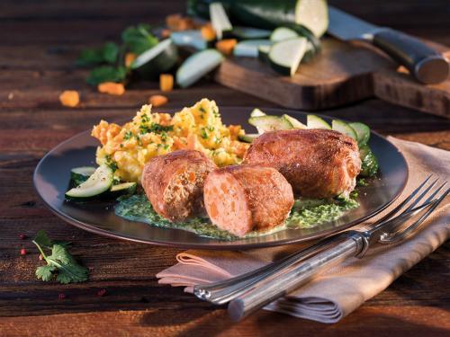 Schweineroulade, Schonkost, gewürfelte Füllung, ca. 180 g