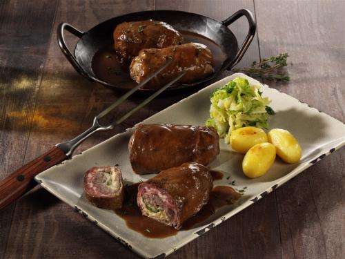 """Beef roulade """"home-made style, cooked SOUS VIDE & browned, approx. 220g"""
