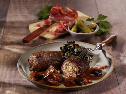 """Beef roulade """"home-made style"""", diced filling, approx. 150g"""