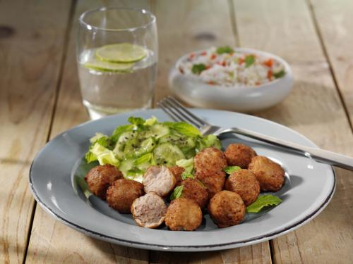 Poultry meatballs, cooked & browned, approx. 10 g