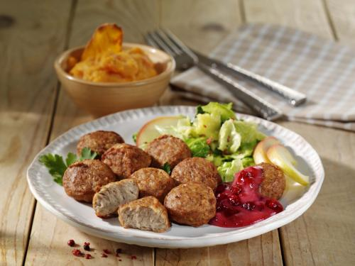 Poultry meatballs, cooked & browned, approx. 20 g