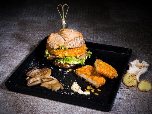 Crunchy Chicken Burger, gegart & gebräunt, ca. 100 g