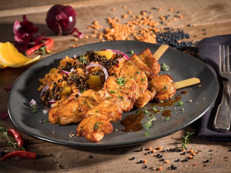 Chicken fillet skewer, approx. 80 g